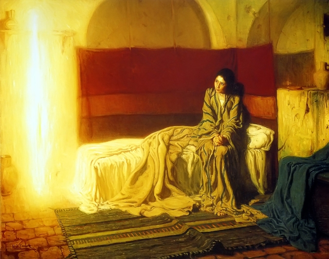 The Annunciation by Henry Ossawa Tanner, 1898.