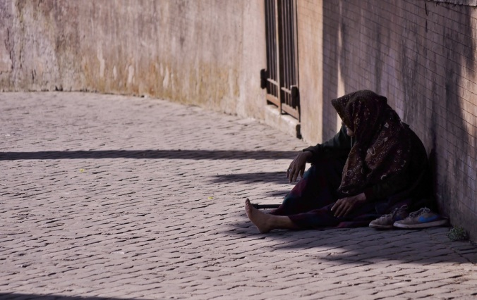 person-homeless-woman-sitting-old